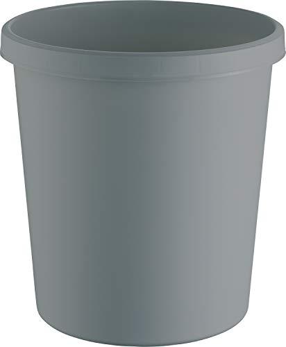 "Helit H6405882 - Papierkorb \""the green german\"", 18 Liter, aus Recycling-Kunststoff Blauer Engel zertifiziert, lichtgrau, 1 Stück"