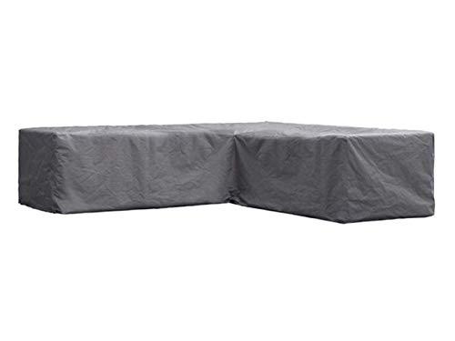 Perel Garden OCLSL250 beschermhoes voor L-vormige lounge-set 250 cm, 250 x 90 x 70 cm, zwart