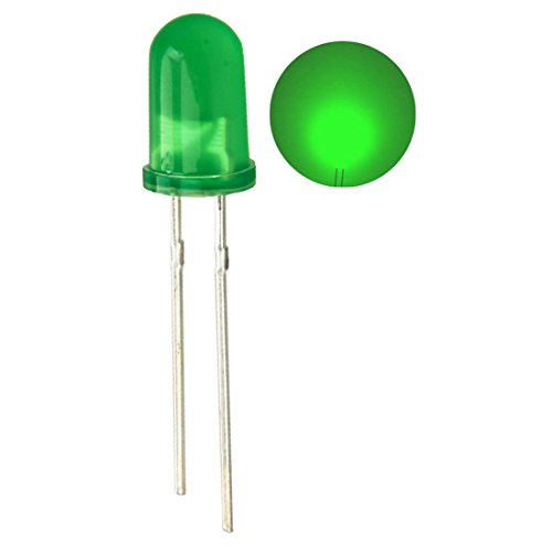 100pcs Ultra Bright 5mm LED Light Emitting Diode Diffused Green