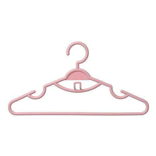 Percha de abrigo, perchas de ropa Perchas de ropa fuerte 30 Conjuntos de color japonés multifuncional Color Plain Plain Hack Balcon Malcón Anti-Skid Ropa Colgante Para Trajes, Pantalones, Camisas