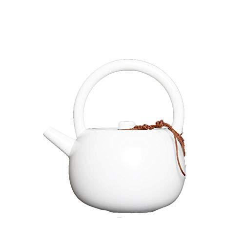 Tetera de porcelana de estilo japonés Mango olla tetera de porcelana blanca tetera de cerámica de una sola olla tetera