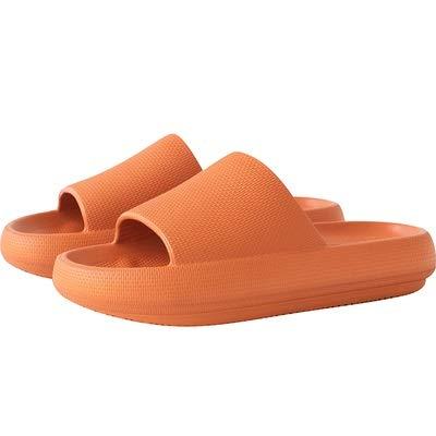 treseds Toboganes de Almohada, Sandalias de Ducha Unisex con Suela Gruesa, Sandalias Antideslizantes engrosadas de Secado rápido para casa en Interiores y Exteriores (Color : Orange, Shoe Size : 43)