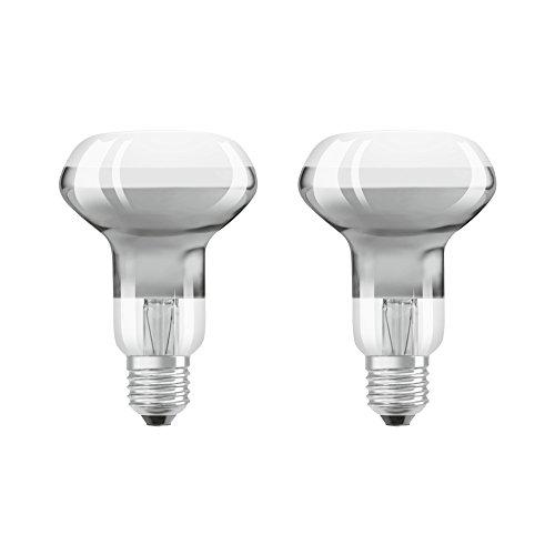 Osram 4058075817630 LED 2,80W E27 Chaud Réflecteur 2700K Verre Transparent 2 Unités