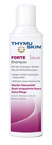 Thymuskin Forte Shampoo - Mittel gegen starken Haarausfall für Frauen & Männer - aktiviert neuen Haarwuchs - durch klinische Studien bestätigt - keine Nebenwirkungen - Premium Pflegesubstanzen - 200ml