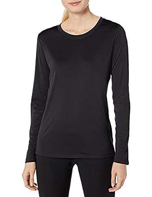 Hanes Women's Sport Cool Dri Performance Long Sleeve Tee, Black, 2X Large
