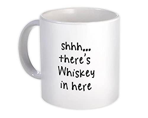 Shhh, hay whisky aquí : Regalo Jarra : Quote Drink Bar Divertido Irreverente Scotch