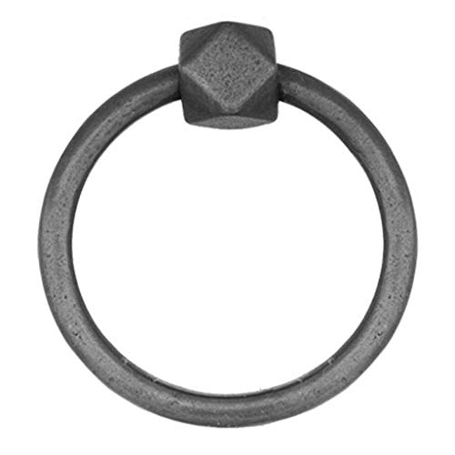 Ring Türklopfer, Antik Messing Anti-rost Ausführungen Haushalt Door Knocker Ideal für Schublade Kleiderschrank Tür-Schwarz-8.5x8.5cm(3x3Zoll)