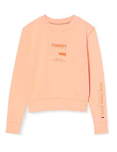 Tommy Hilfiger Tjw Tonal Logo Sweatshirt Sudadera, Naranja (Melon Orange Sc1), 40 (Talla del Fabricante: Large) para Mujer