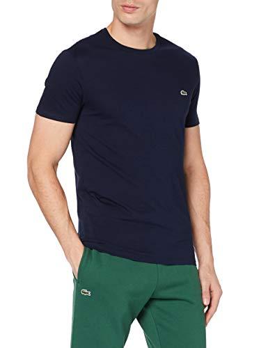 Lacoste TH6709, Camiseta para Hombre, Azul (Marine), XL (Talla del fabricante: 6)