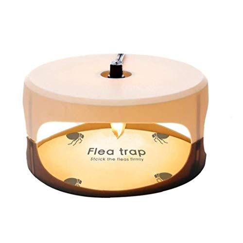 GGOOD Trampa de pulgas Asesino de la Mosca de la lámpara Redonda Instalación Sencilla Pegamento Discos Mejor Control de plagas para la Herramienta Inicio jardín