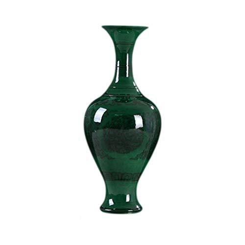 bloempot Vaas Keramisch Groen Geglazuurde Emerald Vaas Decoratie Antieke Vaas Blauw En Wit Porselein Fles Donker Patroon Chinese Klassieke Ambachten