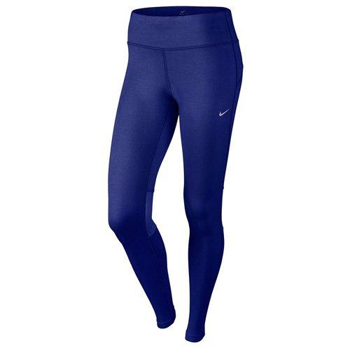 Nike Damen Oberbekleidung Dri Fit Epic Run Tights Leggings, Blau, L