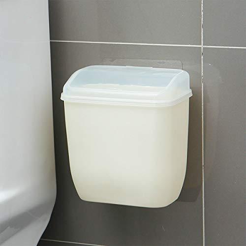 Aufbewahrungsbox Abfalleimer mit Abdeckung für die Wandmontage und kreatives Wandaufkleber für Badezimmer, Küche, WC und Mülleimer aus Kunststoff, Polypropylen, siehe abbildung, Einheitsgröße