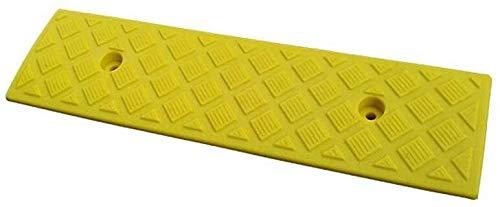 Rampa Para Umbral 3 cm de servicio Rampas, Hogar Umbral cubierta rampas antideslizantes de Accesibilidad Seguridad Rampas Rampas multifunción plástico práctico ( Color : Yellow , Size : 49.5*13*3CM )