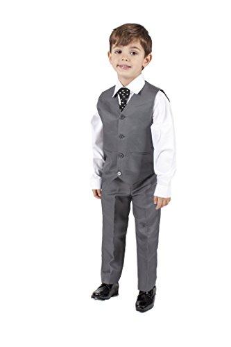 Los niños traje de chaleco gris 4piezas