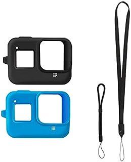 حقيبة واقية من السقوط لكاميرا Gopro 8 من السيليكون مع إكسسوارات حزام معصم قصير من إكسسوارات الكاميرا (اللون: مجموعة)