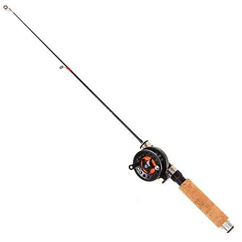 氷釣りロッドセット 超軽量 なポケット釣竿 伸縮ミニ65センチメートルポール リール釣り道具 初心者用入門ロッド短竿 冬釣りエビ釣り