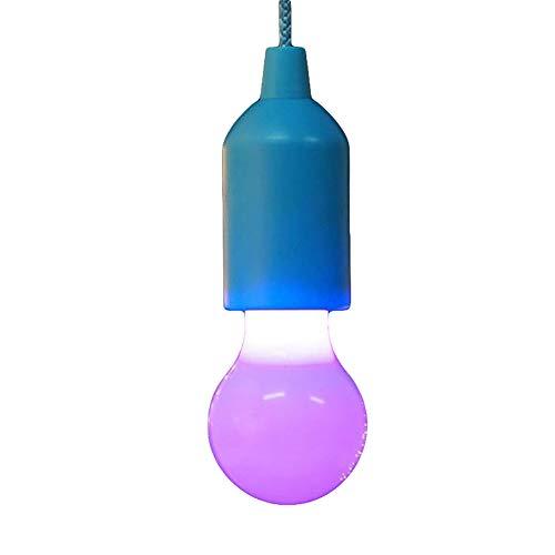 Goodtimes28 Portable LED Multicolores Cordon de tirage Ampoule Jardin Camping Lampe à Suspension