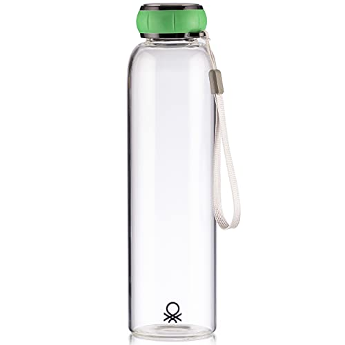 Botella de Agua 550ml borosilicato Tapa Verde Casa Benetton