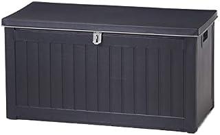 ゴミ箱 屋外 ダストボックス 収納ボックス 収納ベンチ 防水 大容量 大型 ふた付き ストッカー ごみ箱 おしゃれ 190L 最短 ブラック