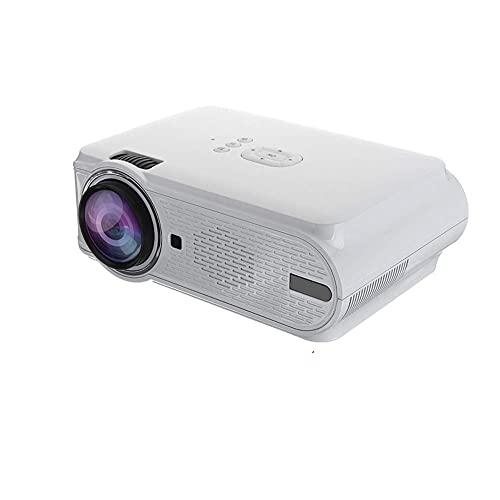 OHHG Caja Mini proyector, proyector Video portátil HD 1080PLED, proyector Juegos películas HDMI teléfono Inteligente Videojuegos Cine casa
