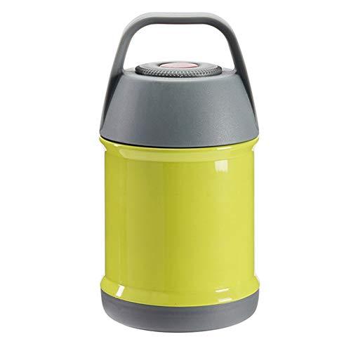 DILU Water Fles Vacuüm RVS Grote Capaciteit Isolatie Buis Koker Pap Pot Buik Cup Vacuüm Kantoor Cup voor Ontbijt Veld Uitgang 450ML,Geel