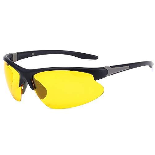 JFSZZ Gafas unisex polarizadas para montar a caballo, carreras y ciclismo, UV400, gafas de sol para bicicleta de montaña, para exteriores, MTB (color: negro y amarillo)