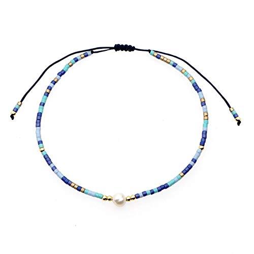 N Bracelet jewelry Pearl Bracelet for Women Friends Jewellery Gift Beaded Jewelry Bohemian Adjustable Bracelets Valentines Day present