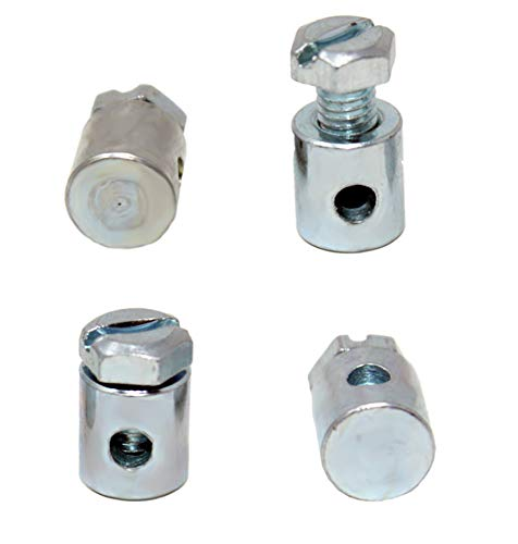 4 Stück Schraubnippel 10x14mm für Seilzüge Bowdenzüge Kabel etc. (1,61€/Stk.)