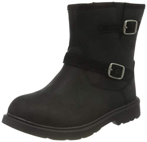 Weestep Toddler Little Kid Boys and Girls Waterprooft Warm Winter Snow Boots Black/Grey