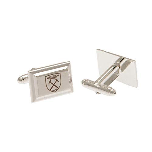 West Ham United FC versilberte Manschettenknöpfe (Einheitsgröße) (Silber)
