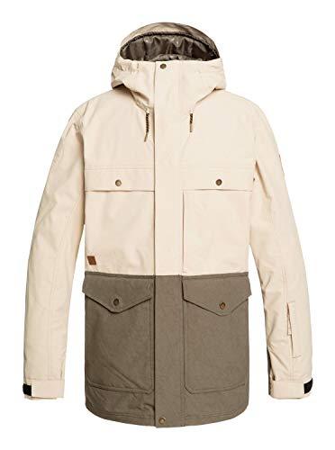 Quiksilver Mens Horizon - Snow Jacket for Men Snow Jacket Brown M