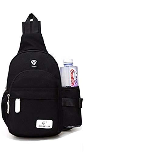 Sevenfly Sling Rucksack Chest Shoudler Umhängetasche Wasserdicht Wandern Daypack Für Frauen Und Männer Mit Flaschenhalter (schwarz)