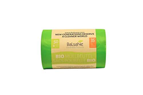 Bio-Müllbeutel 35 Liter - 50 reissfeste hochqualitative Beutel - 100% kompostierbar und biologisch abbaubar - OK Compost Home Zertifiziert - Geeignet für die Biotonne