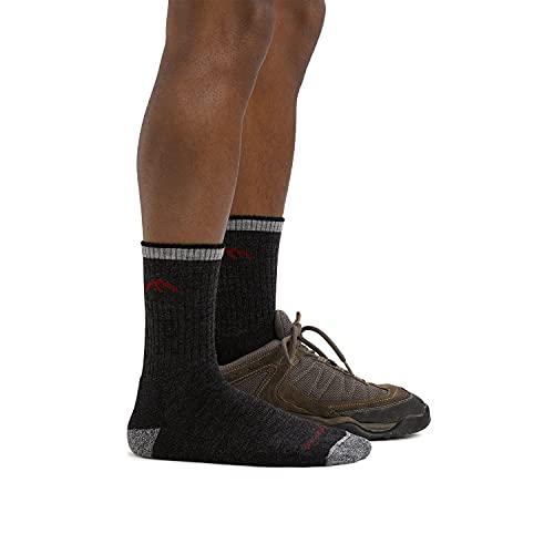 Darn Tough (Style #1466) Men's Merino Wool Micro Crew Hiker Sock With Cushion - Oatmeal, Large