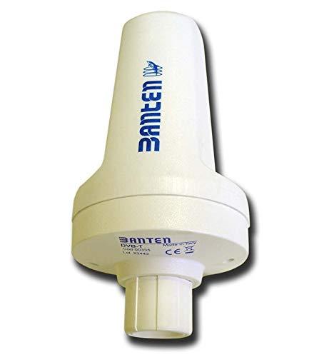 Banten antenne Tdt TV Digital Terrestrisch Dvb-T voor gebruik in het water 20 cm montage op mast 26 dB 75 Ohm Omnidirectioneel kunststof model 00335