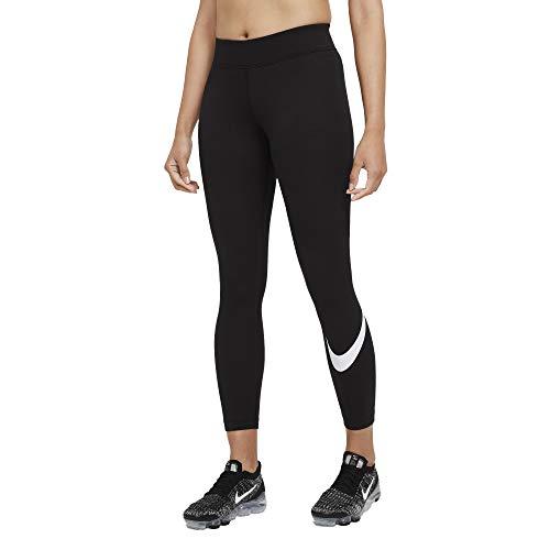 Nike Damen W NSW ESSNTL LGGNG Swoosh MR Leggings, Black/(White), L
