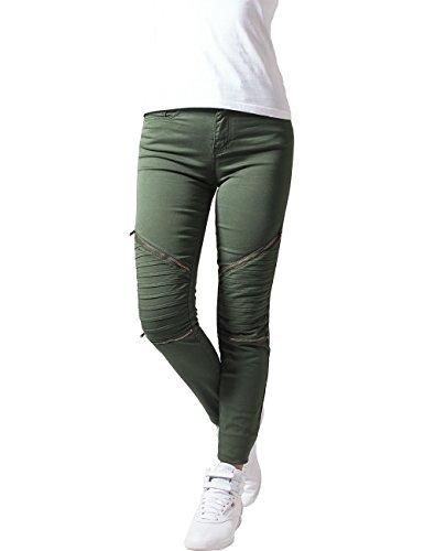 Urban Classics Damskie spodnie ze streczu dla rowerzystów