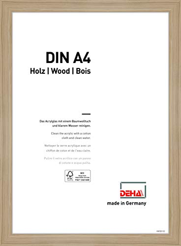 DEHA Holz Bilderrahmen Fontana, 21x29,7cm (A4), Eiche