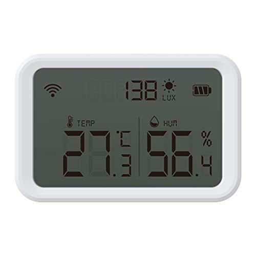 SOLE HOME Smart Temperatur Feuchtigkeit Sensor Tuya Zigbee Drahtlose Hygrometer Thermometer mit APP Warnungen Und Daten Export für Gewächshaus Weinkeller Zigbee Hub Erforderlich