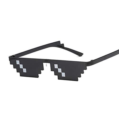 NJJX Gafas De Sol Pixeladas Para Mujer, Gafas De Fiesta Thug Life Para Mujer, Gafas Vintage Para Mujer, Una Sola Fila