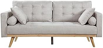 Casa Andrea Milano llc Mid Century Modern Tufted Fabric Sofa Couch