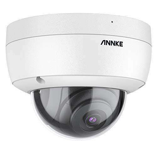 ANNKE C800 Dome 4K Ultra HD PoE Cámara de Vigilancia H.265 + 8MP Cámaras de Videovigilancia con Cable Video Seguridad IP67 Exterior IK10 Antivandálica Grabación Audio Tarjeta de 256GBTF (NO PTZ)
