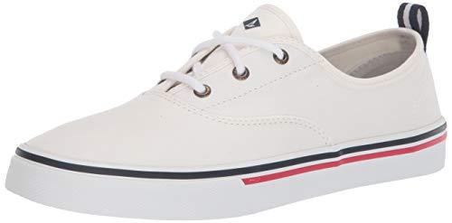 Sperry Women's Crest CVO Sneaker, White Canvas, 8 Medium