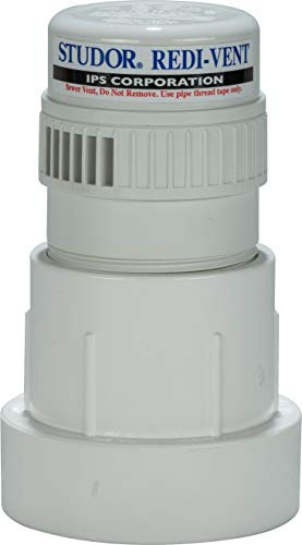 Studor 20346 Redi-Vent Air Admittance Valve with PVC Adapter, 1-1/2- or 2-Inch Connection