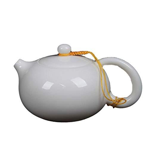 AFGH Tetera Tetera de Porcelana de Jade Tetera de Kung Fu de cerámica Tetera de Porcelana Blanca de Alta Gama de China
