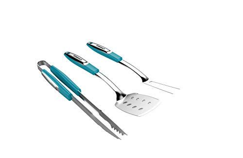 Cuisinart CGS-233T Grilling Tool Set, 3-Piece, Turquoise