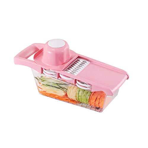Multifonctionnel Trancheur De Pommes De Terre Légumes Fruits Cutter Mandoline Gratins Manuel avec Boîte De Stockage Conteneur, Protecteur De La Main