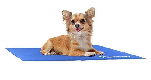Pawaboo Pet Kühlmatte, 19,7 x 15,7 IN Druck Aktiviert Selbstkühlen Kalt Gel Matte für Couch, Autositze und Hundebette, Macht Haustiere Hunde Katzen Cool und Komfort, 40 * 50cm, Blau