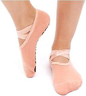 Calcetines antideslizante de yoga para mujer calcetines algodón antideslizante gimnasio fitness pilates ballet dance calcetines deportivos